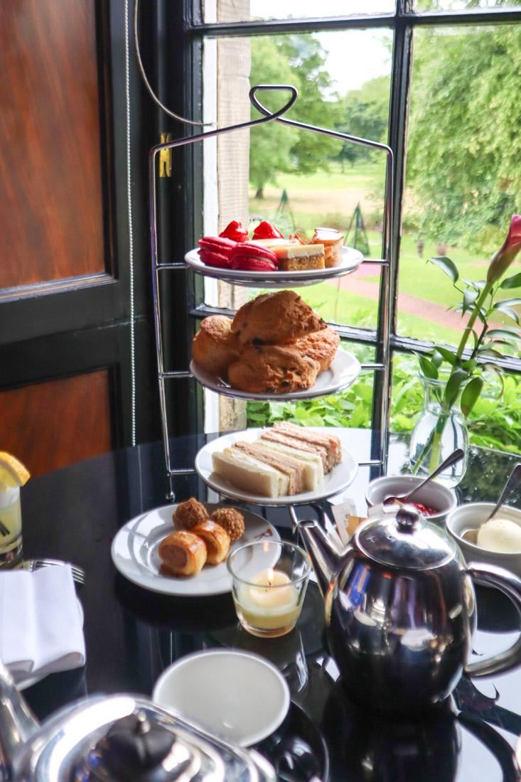 Prestonfield House in Afternoon Tea in Rhubarb Restaurant Hotel Food