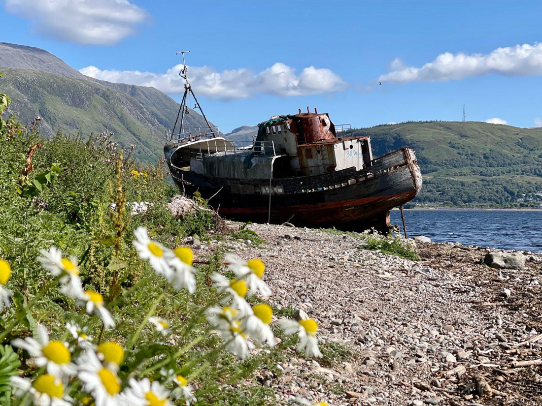 Corpach Wreck Fort William in Scotland Highlands