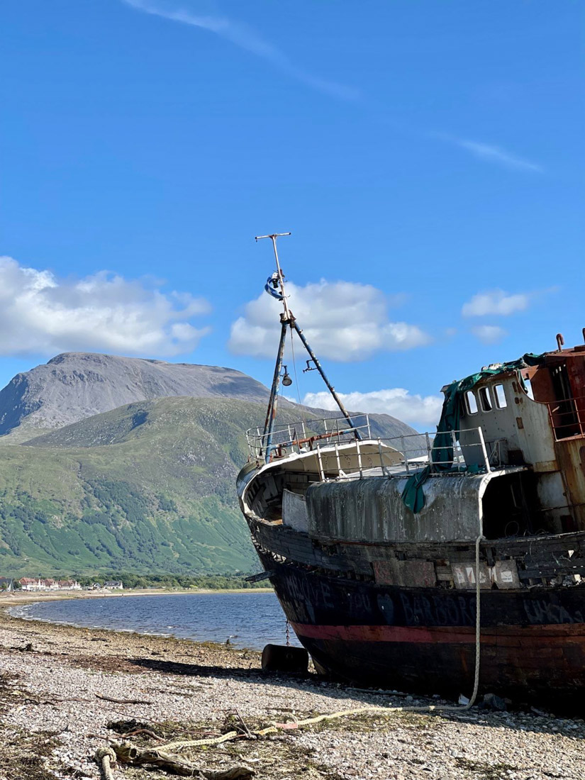 Corpach Wreck in Fort William Scotland Highlands