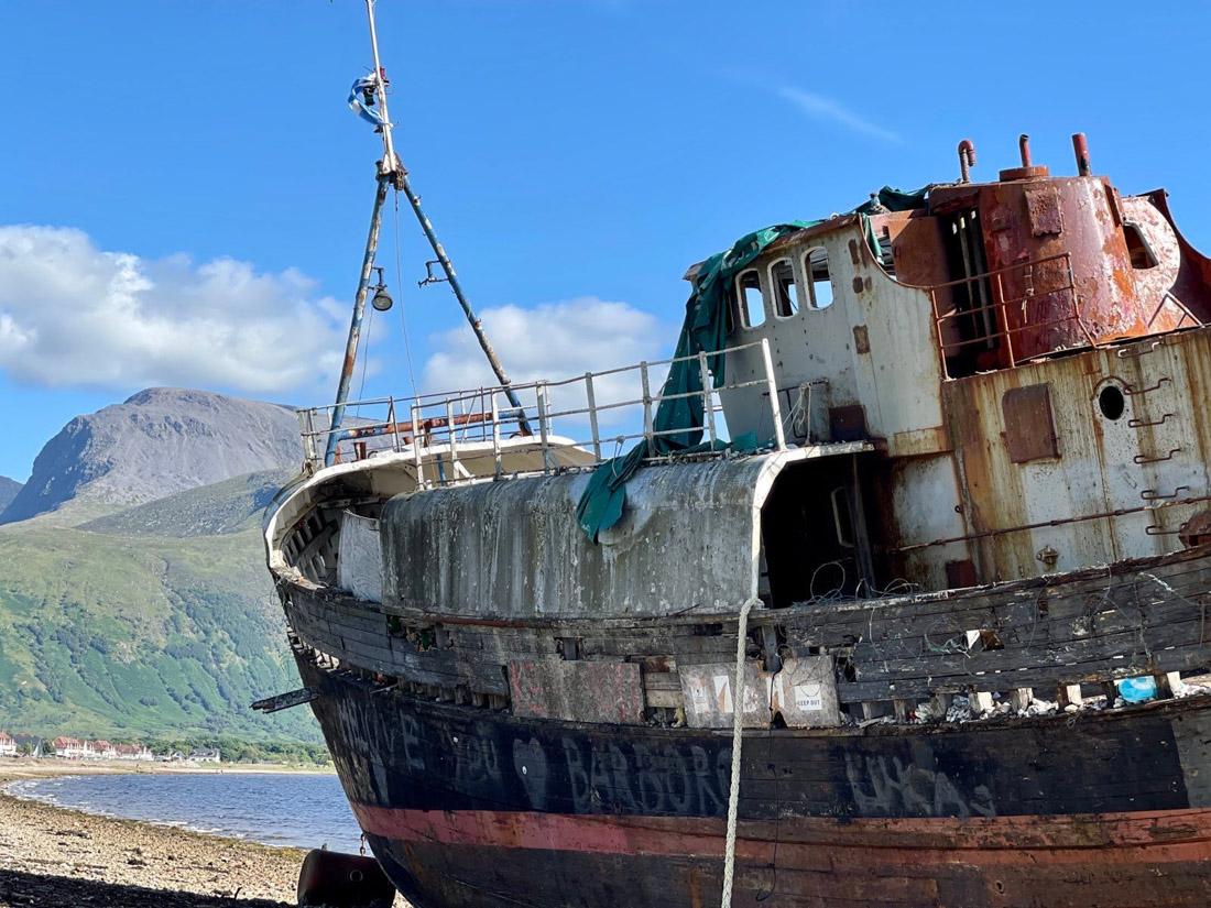 Corpach Wreck ruin Fort William Scotland Highlands