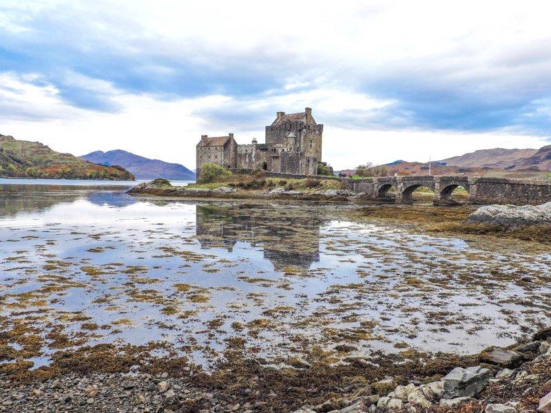 Eilean Donan Castle by loch Scotland