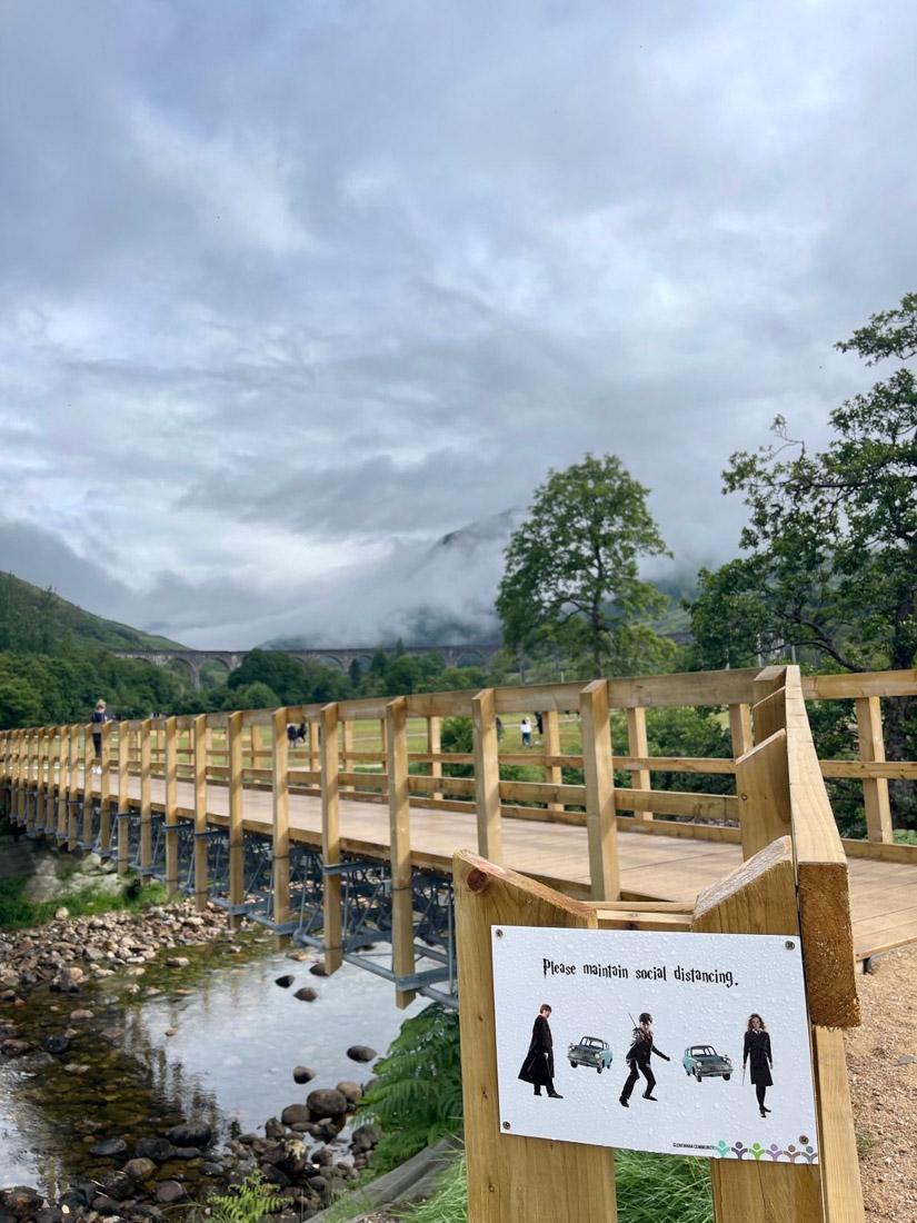 Glenfinnan Viaduct Harry Potter Train Walkway Scotland