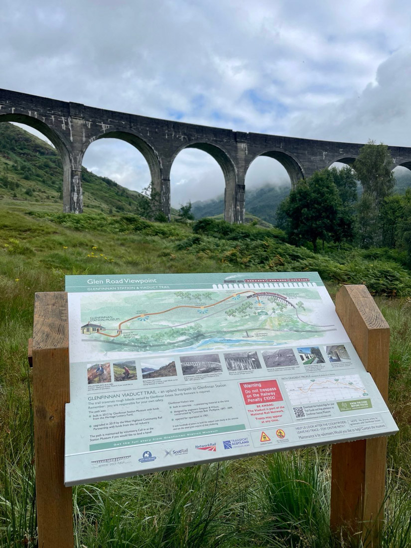 Glenfinnan Viaduct Sign Scotland
