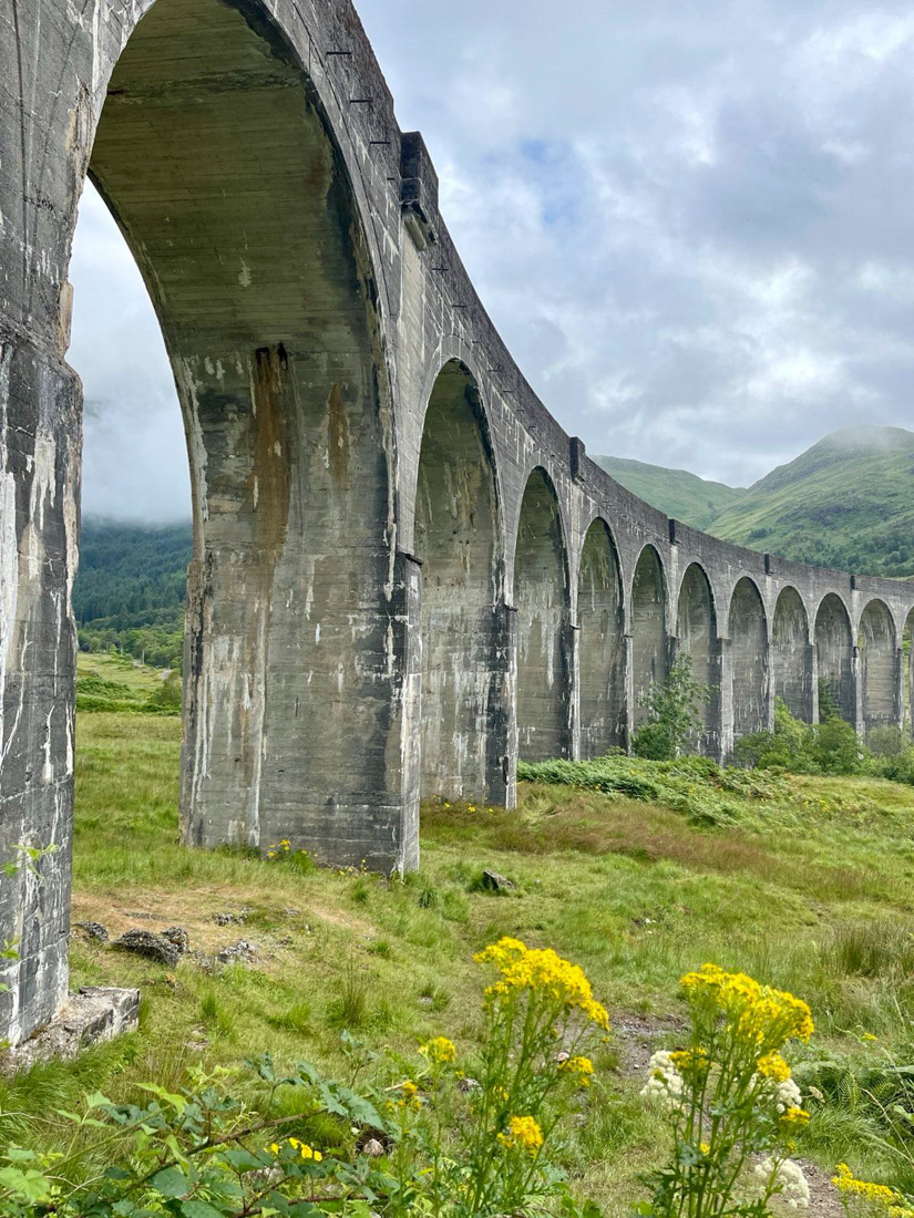 Glenfinnan Viaduct arches Scotland