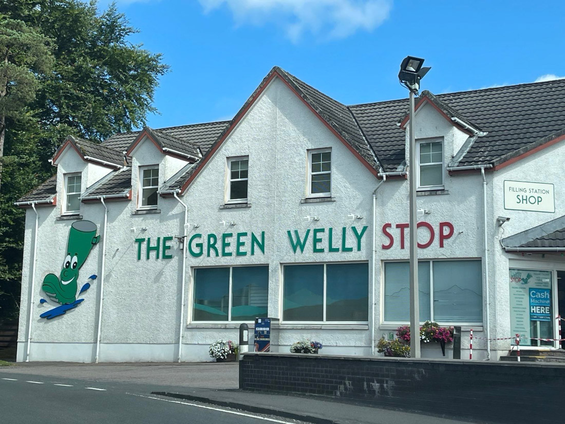 Green Welly Tyndrum Scotland