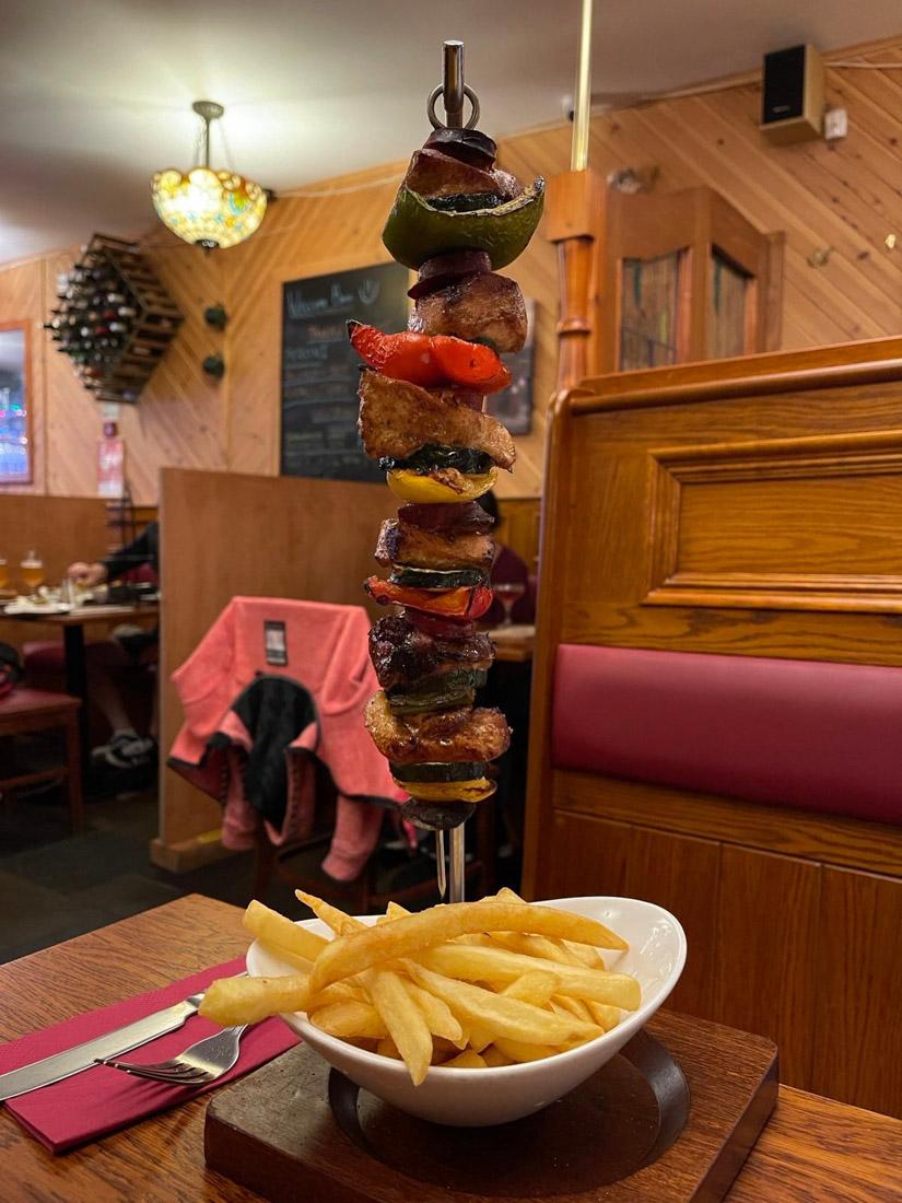 Tavern skewers Forth William Scotland Food