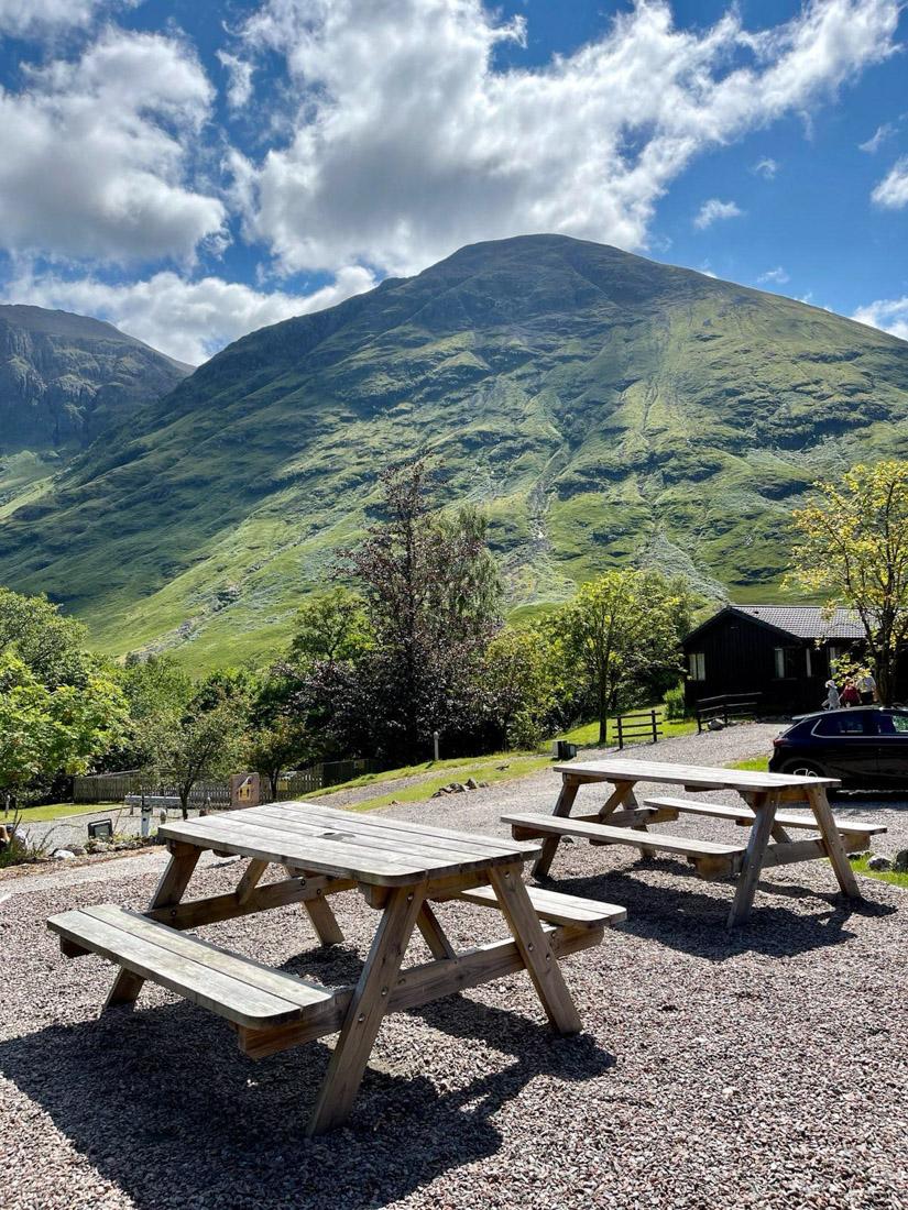 The Clachaig Inn Outdoor Seating Scotland Highlands