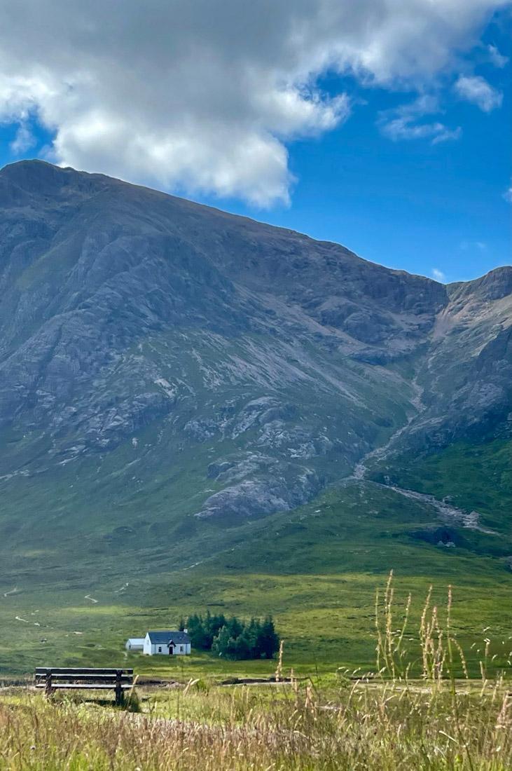 Wee White House at Glencoe Scotland Highlands