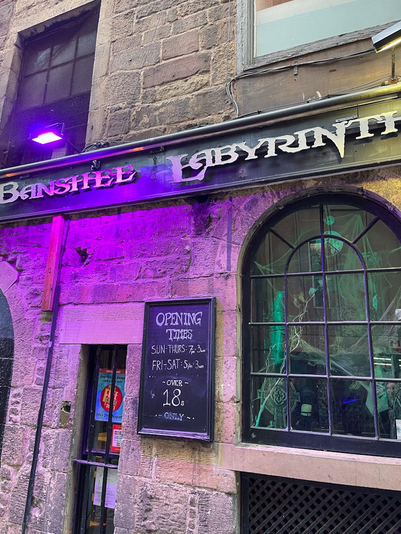Banshee Labyrinth pub Halloween