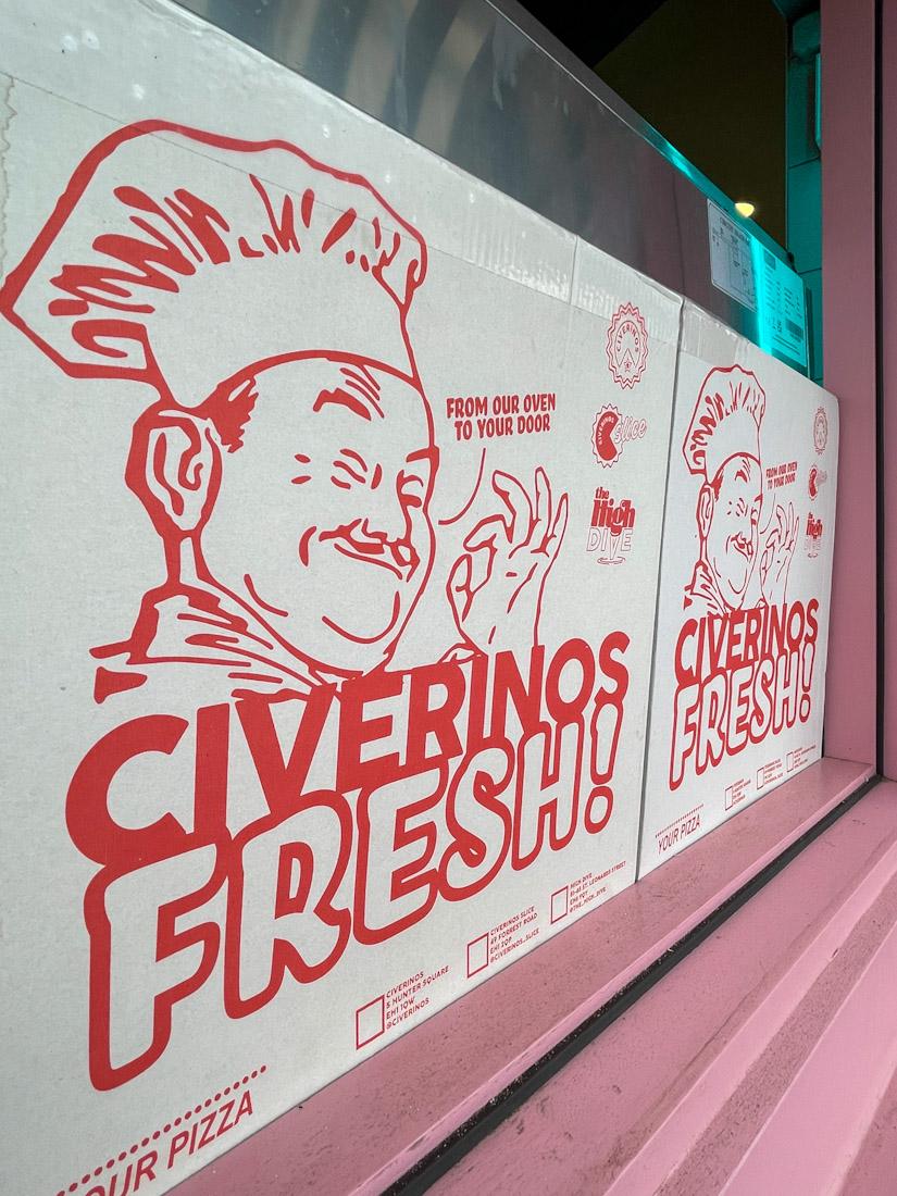 Civerinos Slice Portobello Beach fresh pizza food