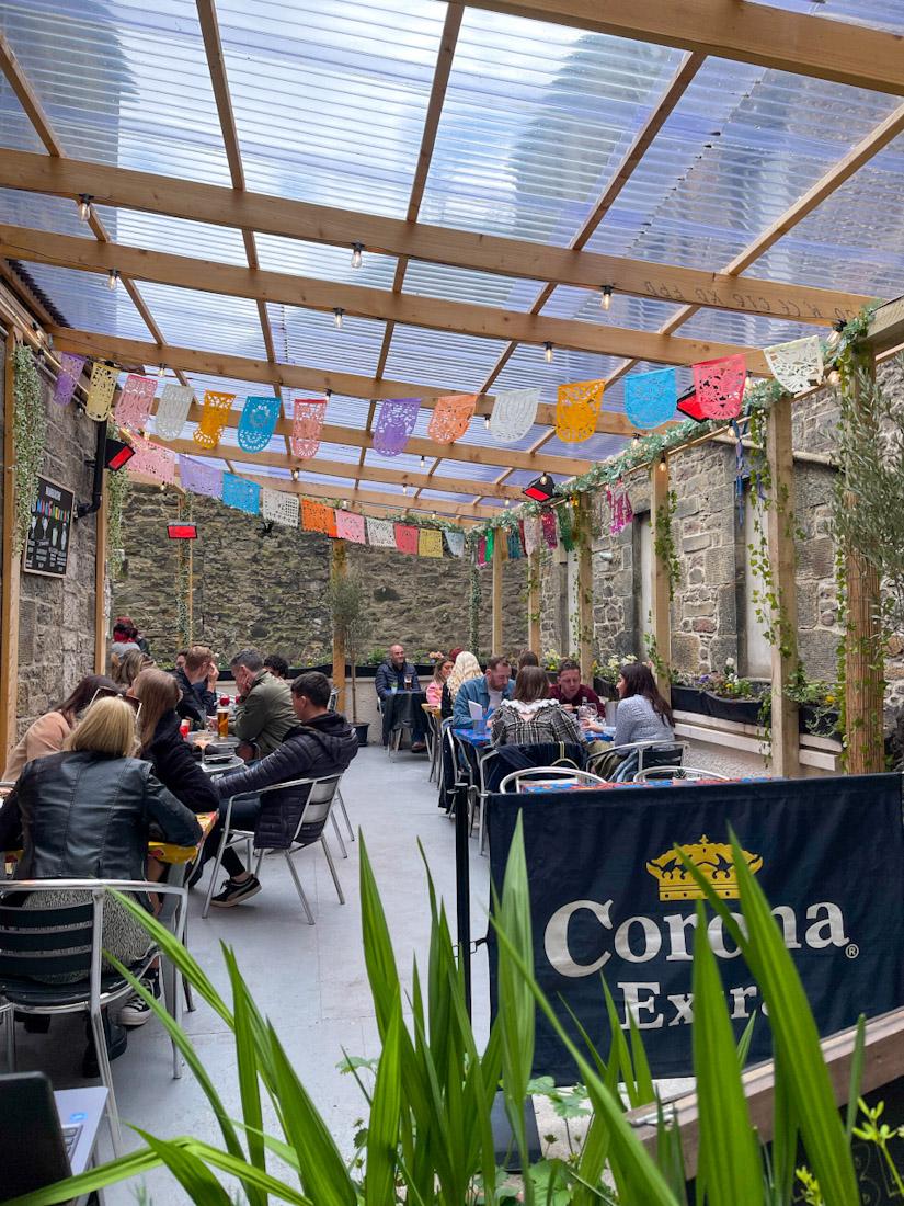 Mariachi beer garden food pub