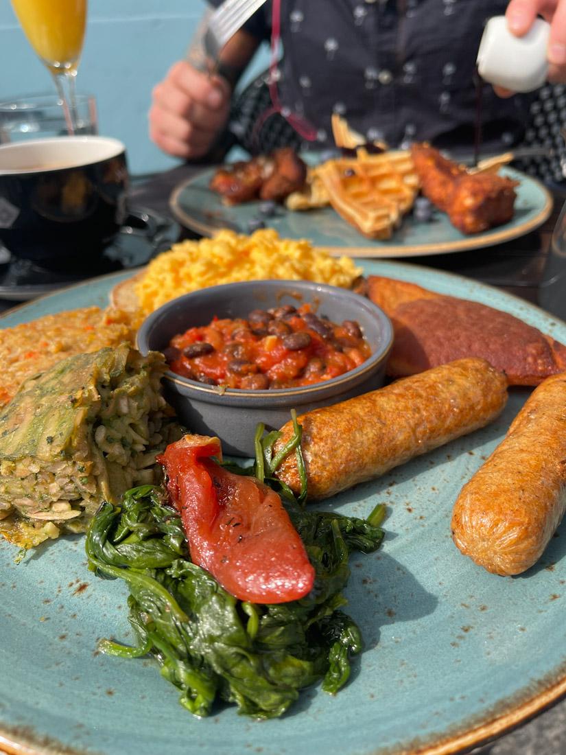 Nobles brunch vegetarian breakfast Leith