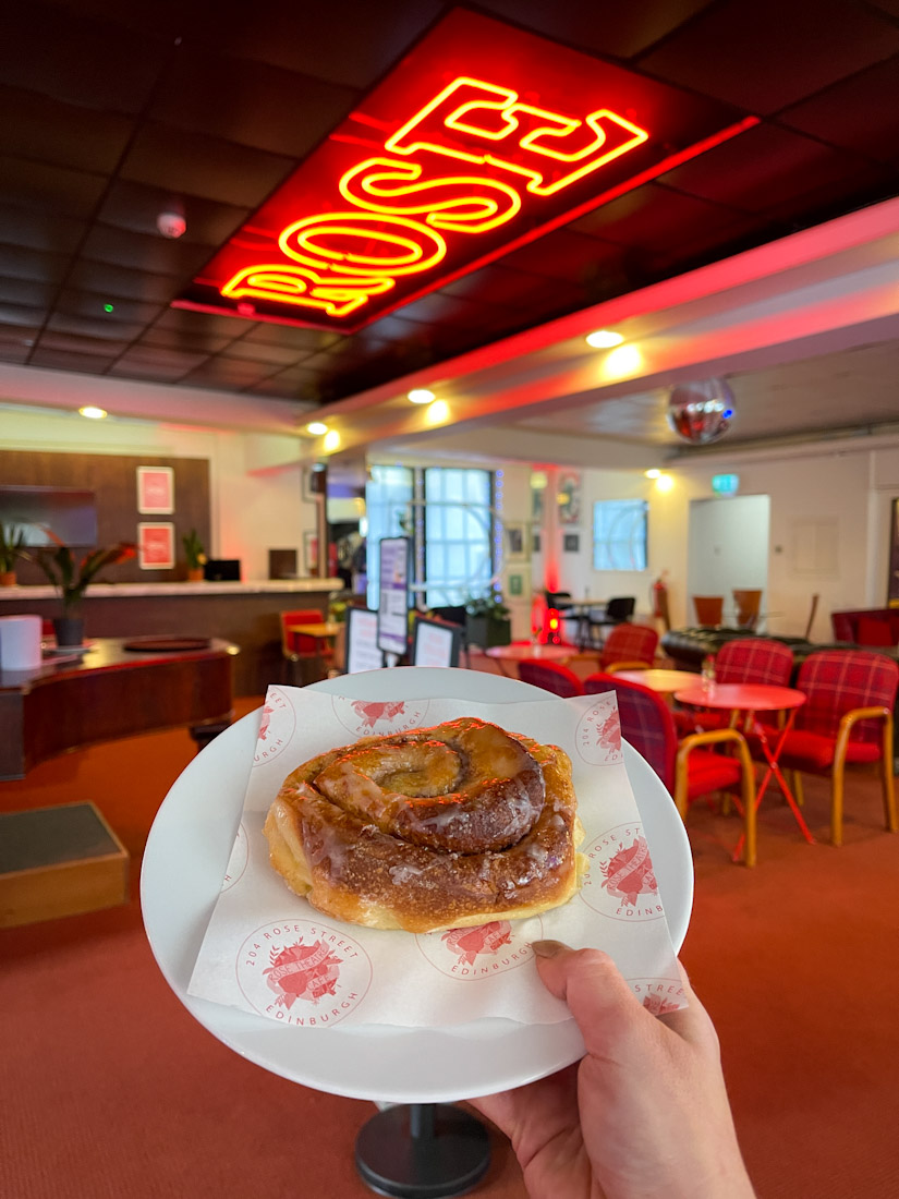 Rose Street Cafe food cinnamon bun