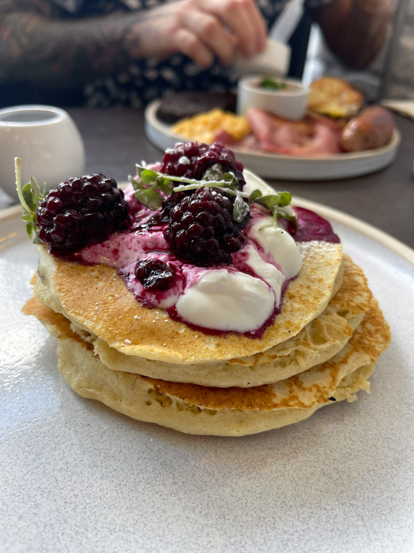 Salt Cafe Morningside brunch pancakes
