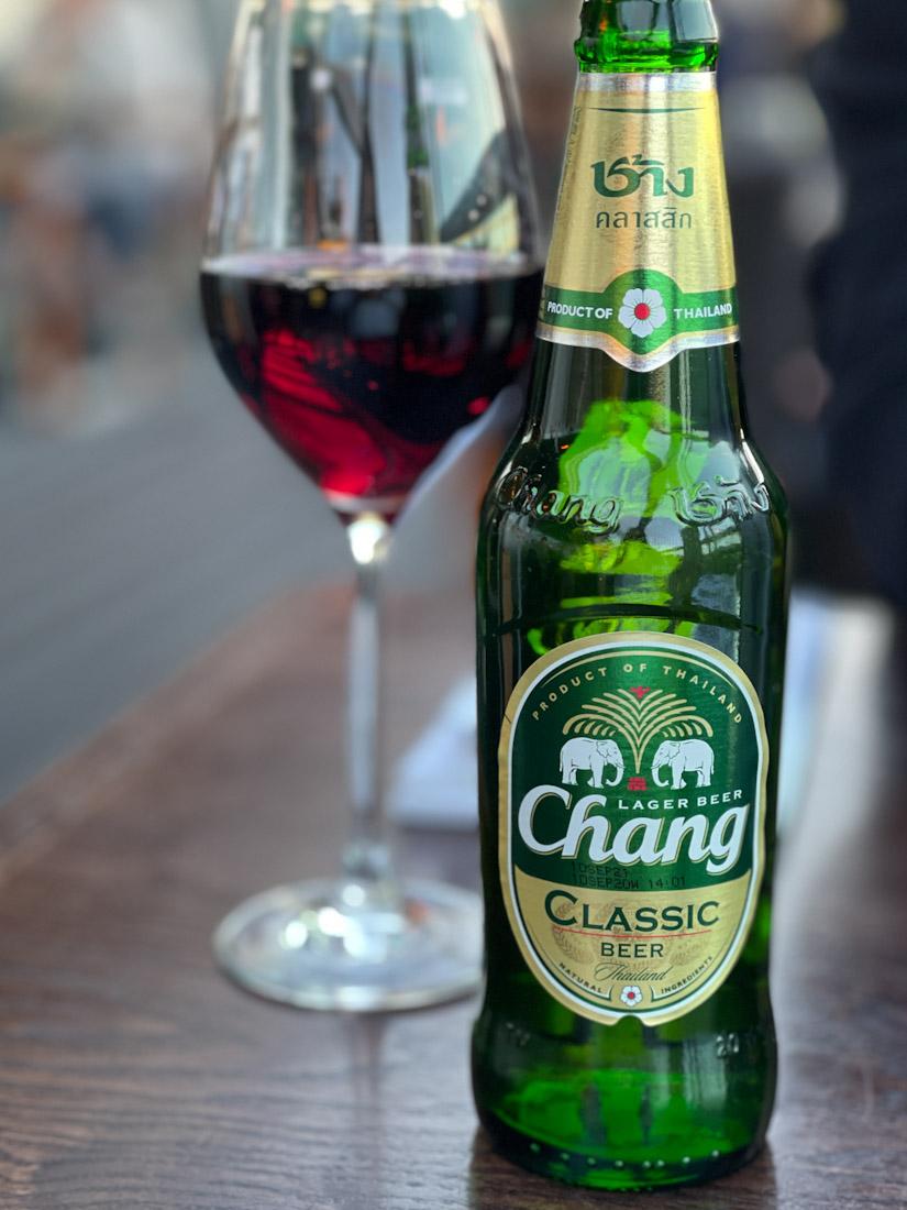 Chaophraya Thai food Chang beer wine