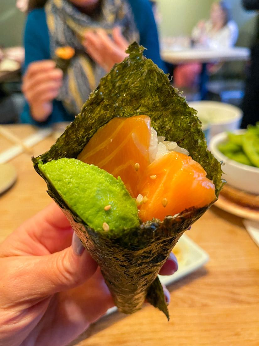 Hakataya Japanese restaurant Rose St hand roll