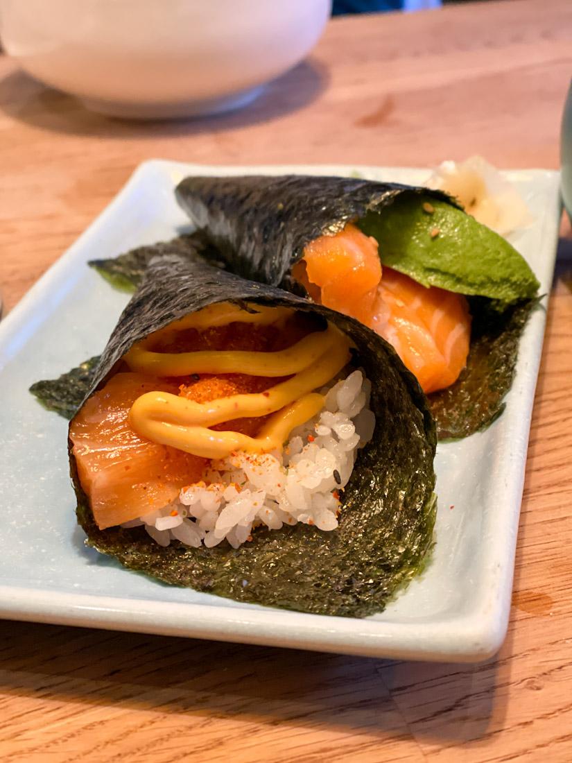 Hakataya Japanese restaurant Rose St hand roll sushi