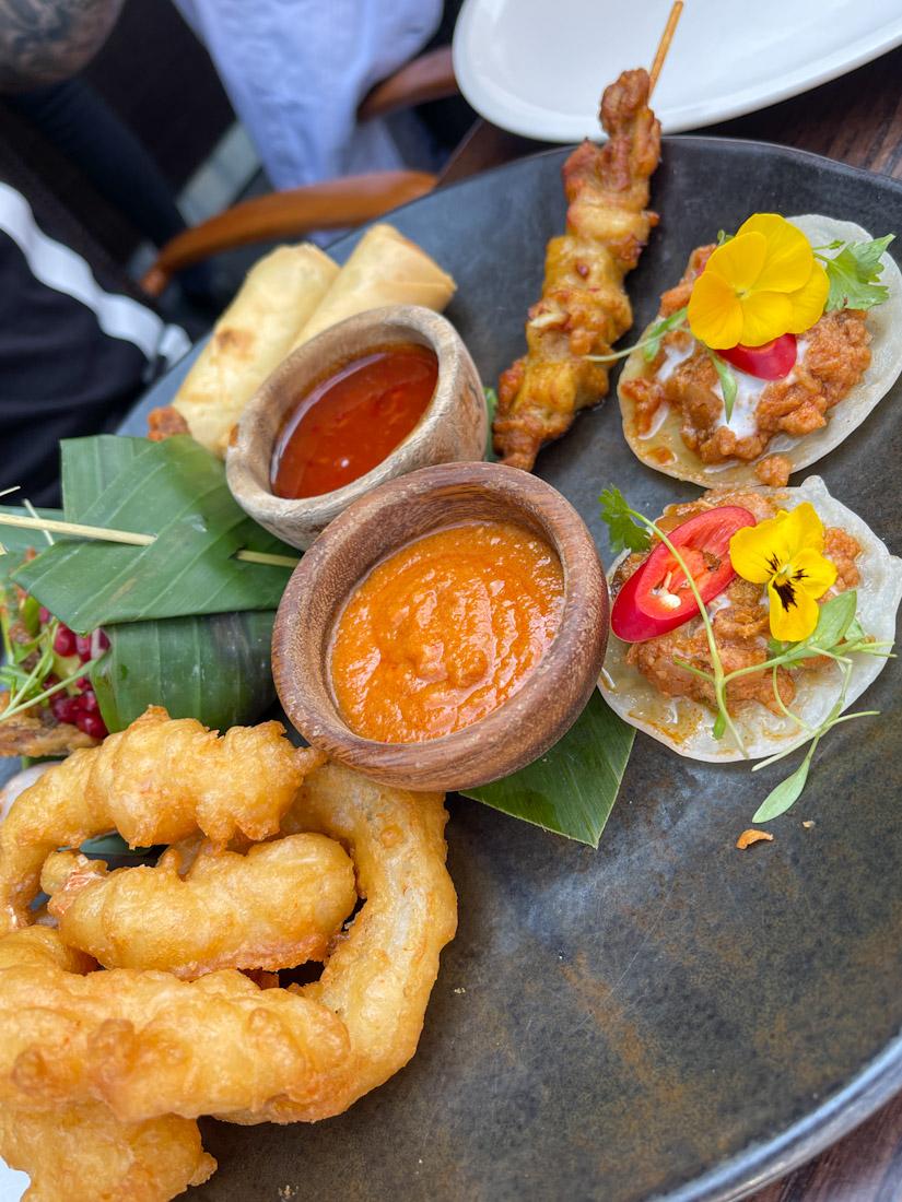 Sharing platter Thai Chaophraya food